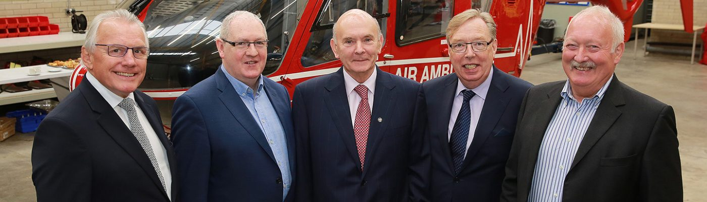Trustees from left to right - Ian Crowe, Ray Foran, Peter Quinn, Dr. Gerard O'Hare, Rodney Connor