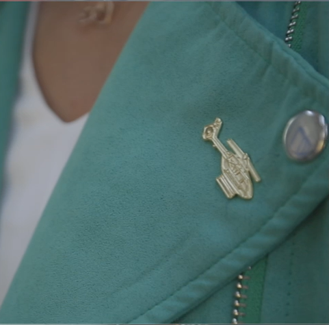 Club AANI Gold Pin Badge