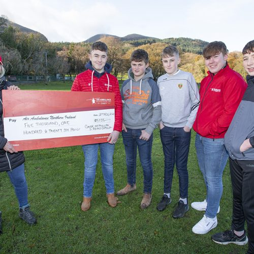 Conor McMullan Air Ambulance cheque